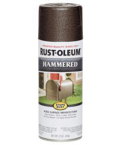 Stops Rust Hammered Spray, 12 oz Spray Paint, Brown
