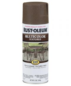 Stops Rust MultiColor Textured Spray, 12 oz Spray Paint, Autumn Brown