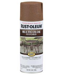 Stops Rust MultiColor Textured Spray, 12 oz Spray Paint, Rustic Umber
