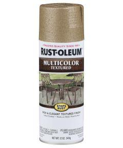 Stops Rust MultiColor Textured Spray, 12 oz Spray Paint, Radiant Brass