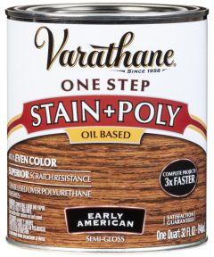 Varathane One Step Stain & Polyurethane, Quart, Early American