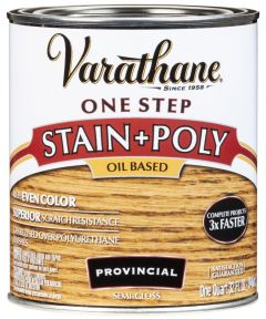 Varathane One Step Stain & Polyurethane, Quart, Provincial