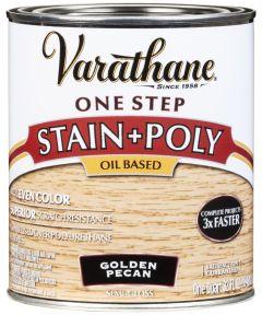 Varathane One Step Stain & Polyurethane, Quart, Golden Pecan