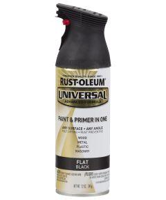 Universal Flat Spray Paint, 12 oz Spray Paint, Flat Black