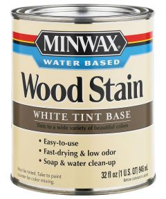 1 Quart White Tint Base  Water-Based Wood Stains