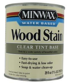 1 Quart Clear Base Water-Based Wood Stains