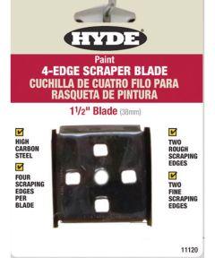 Tools Paint Scraper Blades, 4-Edge - Carbon Steel, 1-1/2 In. Wdth