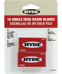 Tools Razor Blades, Single Edge - 2 Pkg. of 5 - Carded