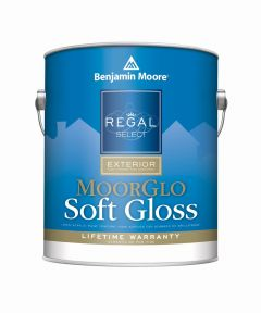 1 Quart Regal Select Exterior MoorGlo Soft Gloss White Paint