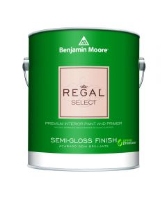 1 Quart Regal Select Waterborne Interior Semi-Gloss White Paint