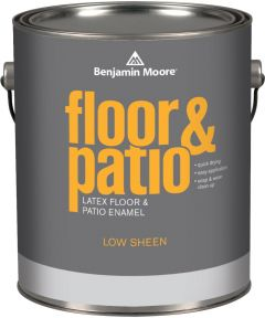 1 Gallon Floor and Patio Latex Enamel  Paint Low Sheen Light Gray