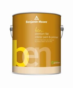 1 Gallon Ben Waterborne Interior Flat White Paint