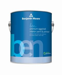 1 Quart Ben Waterborne Interior Eggshell White Paint