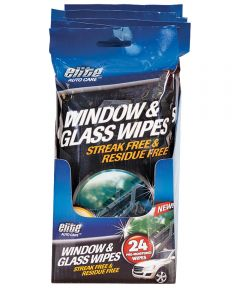 Pre-Moistened Window and Glass Wipe