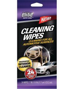 Multi-Purpose Pre-Moistened Automotive Wipe, 7 x 10 in