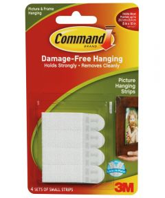 Small Command Adhesive Removable Interlocking Fasteners
