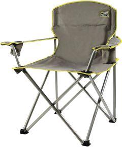 Heavy Duty Folding Quad Chair, Gray