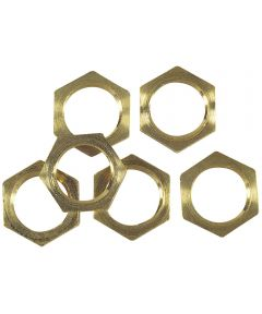 Westinghouse Solid Brass Hex Nuts, 6 Count