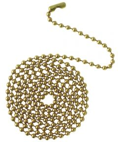 Westinghouse 3 ft. Beaded Chain with Connector, Solid Brass