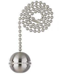 Westinghouse Beaded Ball Pull Chain, Brushed Nickel