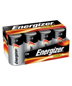 Energizer Max D Battery, 8 Pack