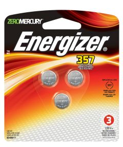 Energizer 357 1.5V Watch/Electronic Battery, 3 Pack