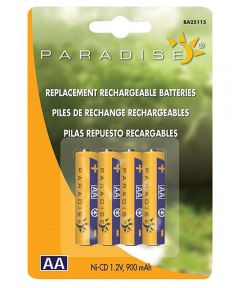 Paradise Ni-Cd AA Rechargeable Batteries 4 Count