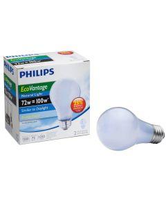 72 Watt Natural Light EcoVantage Light Bulbs 2 Count