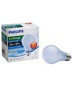 43 Watt A19 Medium Base Natural Light EcoVantage Light Bulbs