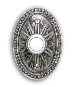 Pewter Oval Sunburst Doorbell