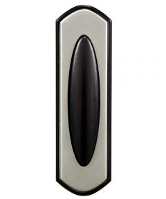 Black & Satin Nickel Doorbell