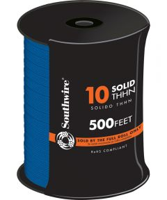 Blue 10 Solid THHN Cable (Sold Per Foot)