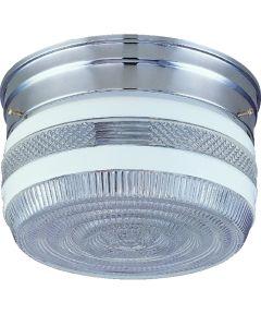 Dimmable Ceiling Light Fixture, (2) 60/13 W Medium A19/CFL Lamp, Chrome