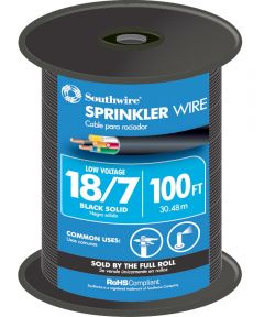 100 ft. Black 18 Gauge 7 Wire Sprinkler Wire