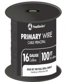 100 ft. Black 16 Gauge 19 Strand Primary Auto Wire