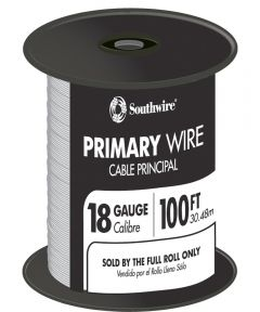 100 ft. White 18 Gauge 16 Strand Primary Auto Wire