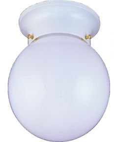 Dimmable Ceiling Light Fixture, (1) 60/13 W Medium A19/CFL Lamp, White
