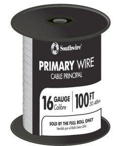 100 ft. White 16 Gauge 19 Strand Primary Auto Wire
