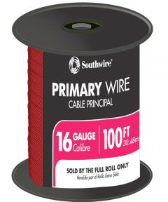 100 ft. Red 16 Gauge 19 Strand Primary Auto Wire