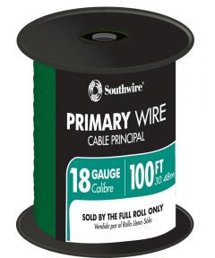 100 ft. Green 18 Gauge 16 Strand Primary Auto Wire