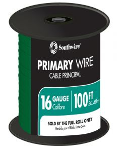 100 ft. Green 16 Gauge 19 Strand Primary Auto Wire