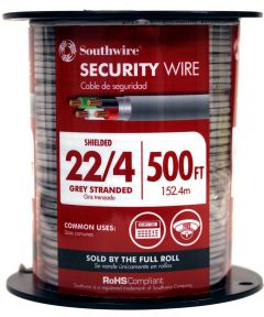 Gray 22-4 Security Cable (Sold Per Foot)
