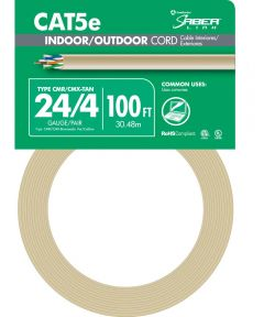 100 ft. 24/4 Tan Indoor & Outdoor Cord