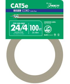100 ft. Grey 24 Gauge 4 Wire Riser Cord