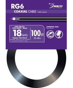 100 ft. Black 18 Gauge RG6 Coax Cable