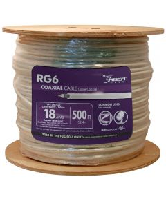 White 18 Gauge RG6 Coax Cable (Sold Per Foot)