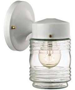 Dimmable Outdoor Lantern, (1) 60/13 W Medium A19/CFL Lamp, White