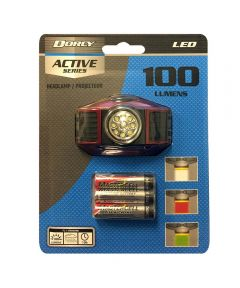 Dorcy 103 Lumen Weather Resistant LED Headlight, 3AAA