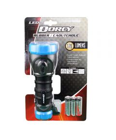 Dorcy 170 Lumen Rubber LED Flashlight, 3AA