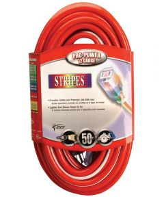50 ft. Red & White 12/3 Outdoor Extension Cord